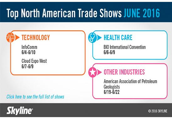 June 2016 Trade Shows